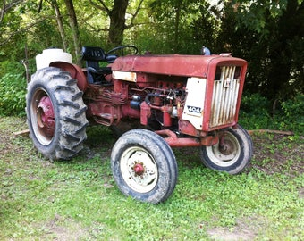 Farm rusty tractor stock photo image free use