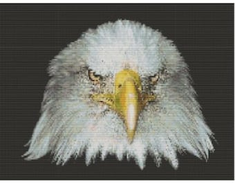 Bald Eagle, pattern for loom or peyote