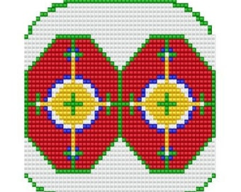 Ornament One, bead pattern for loom or peyote