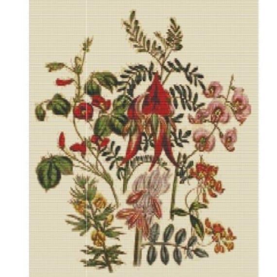 Antique Flower 1 Bead Pattern For Loom Or Peyote