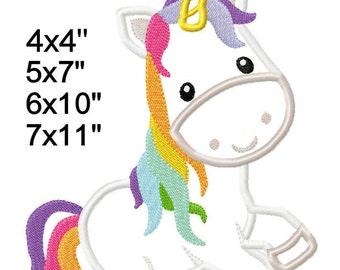 Unicorn Fairy Tale M2M fabric Machine Applique Design Embroidery Pattern 4x4 5x7 6x10 7x11 INSTANT DOWNLOAD