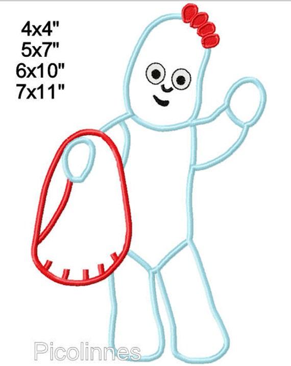 lggle Teddy NlGHT muñeca apliques diseño patron para bordar a | Etsy