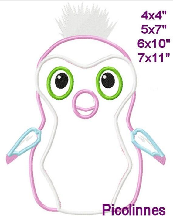 Penguin huevo máquina apliques bordado patrones de diseño 4 x | Etsy
