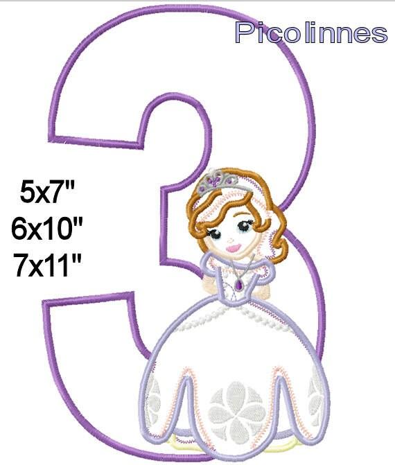 Princesa S0PHlA máquina apliques bordado patrones de diseño 5   Etsy