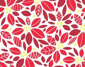 3 Color Poinsettia Silkscreen Set