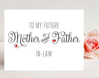 Card for In-laws on Wedding Day - Mother-in-Law Wedding Card - Father-in-Law Wedding Card