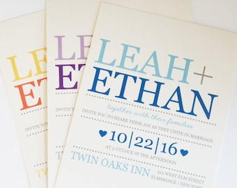 fast and affordable wedding invitations by whimsicalprints on etsy