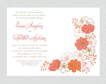 10 Coral Rehearsal Dinner Invitations