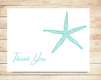 Beach Thank You Cards - Starfish Thank You Cards