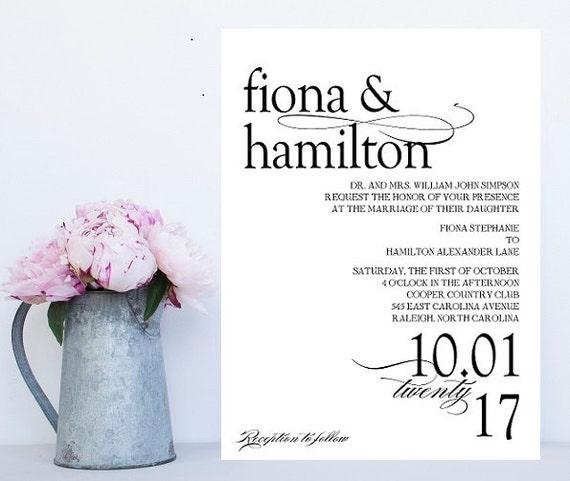 Traditional wording wedding invitation formal wedding etsy image 0 filmwisefo