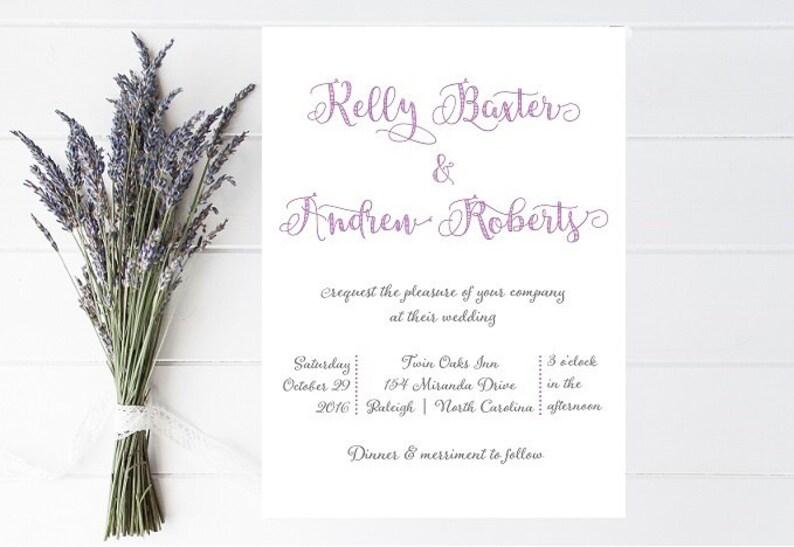 Whimsical Fun Wedding Invitations Informal Wedding Etsy
