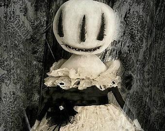 Instant Download Doll Pattern Standing Magical Pumpkin JOL & Victoria Snow girl PDF Primitive E Patterns Cloth Fabric Sewing Kim Kohler