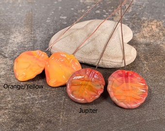 Unique Lampwork Glass Leaf Headpins for Earrings, Dangles or Jewelry Designs, Ready to Ship