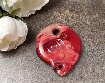 Gratitude Stone Lampwork Glass Pendant in Borosilicate Glass, Gift for Best Friend, Girlfriend
