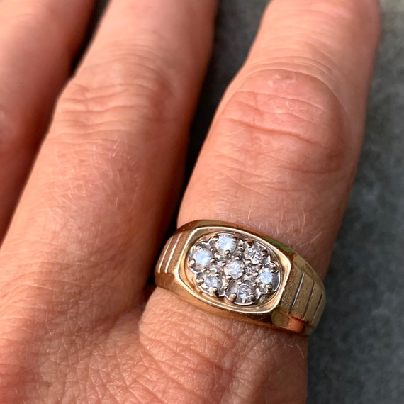 Killer 1980s 14K Diamond Ring
