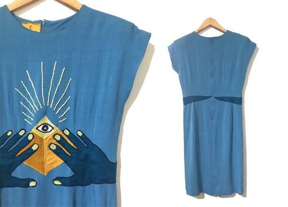 MF+CJ Spirit of Ra Vintage Revival Shift Dress