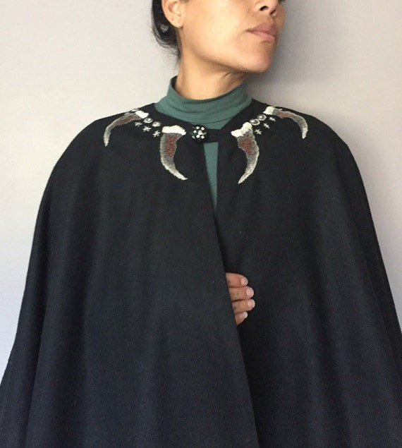 MF+CJ The Wilds Embroidered Vintage Wool Cape