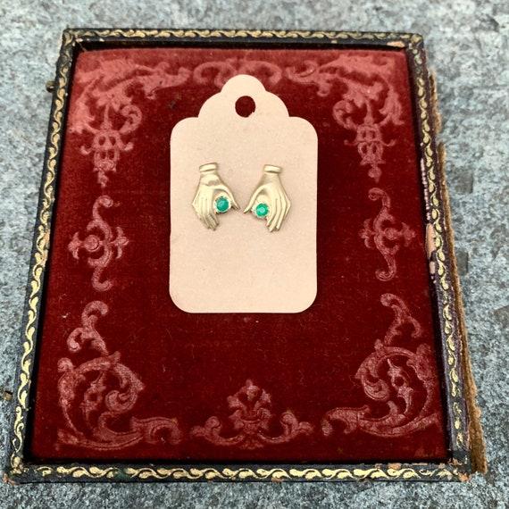 Helping Hand Emerald Earrings