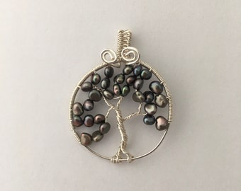 Tree of Life Pendant with Peacock Pearls