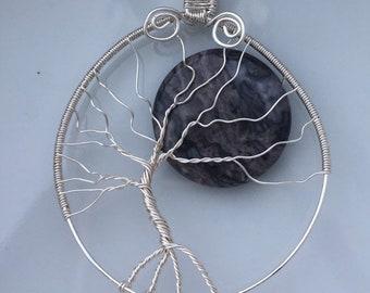 Japer Moon Tree of Life Pendant