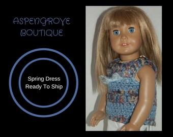 18 inch doll clothes crocheted doll clothing denim doll dress doll top doll shirt Ready to ship