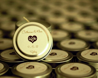 Wedding Favor Candles Travel Tin Gift