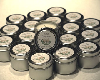 Baby Shower Gift Favor Candle Sample