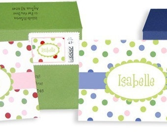 Happy Personalized Stationery box of 10