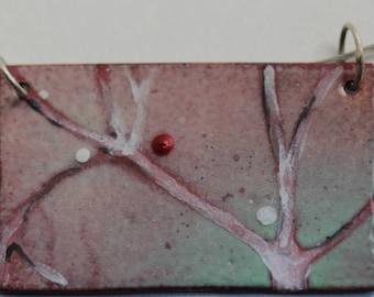 Winter Tree Pendant - Rectangular shape
