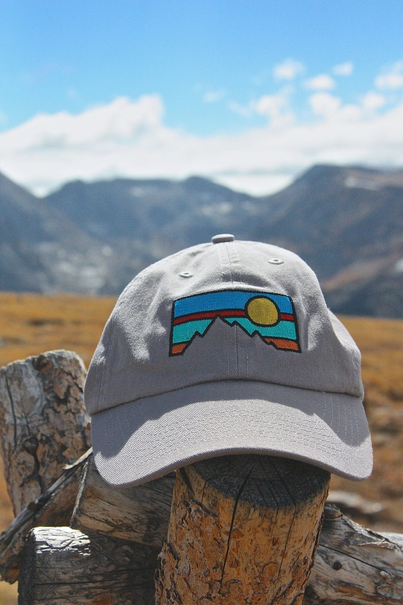 Mountain Embroidered Dad Hat  3e869ee83f6