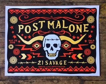 Post Malone- Darien Lake- Official Screenprinted Poster