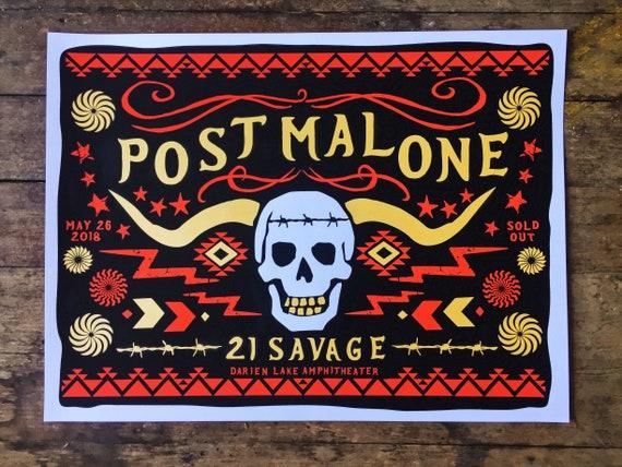 Official Screeprinted Poster Darien Lake post malone