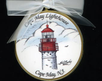 O. Cape May Lighthouse Holiday Ornament