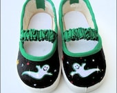 PIF BOO Sparkle Ghost Deco Shoes that Glow in the Dark