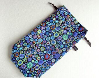 Spindle Bag, Padded Drawstring Bag - Paperweight in cobalt