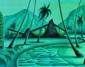 The Original Beach Lair, print