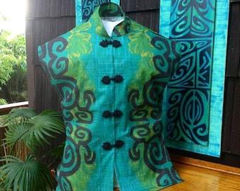 Sophista-tiki Togs  womens teatimer /paka shirt. s- xxl .custom fabric choice