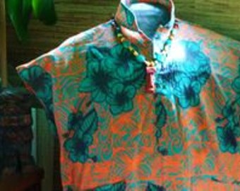 Sophista-tiki Togs. made to order   womens teatimer /paka shirt. s- xxl