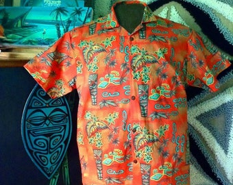 2XL and above custom fabric choice aloha shirt sophista-tiki togs
