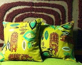 Decor pillow cover tiki modern