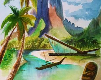 Lagoon Modern Living art print