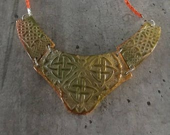 polymer clay necklace - celtic knots model