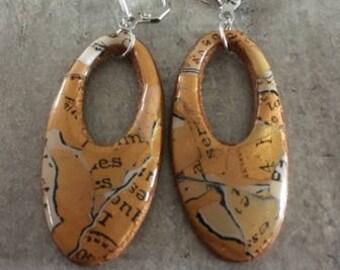 polymer clay earrings pair - jean - new