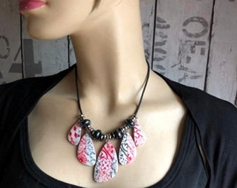 Polymer clay necklace new