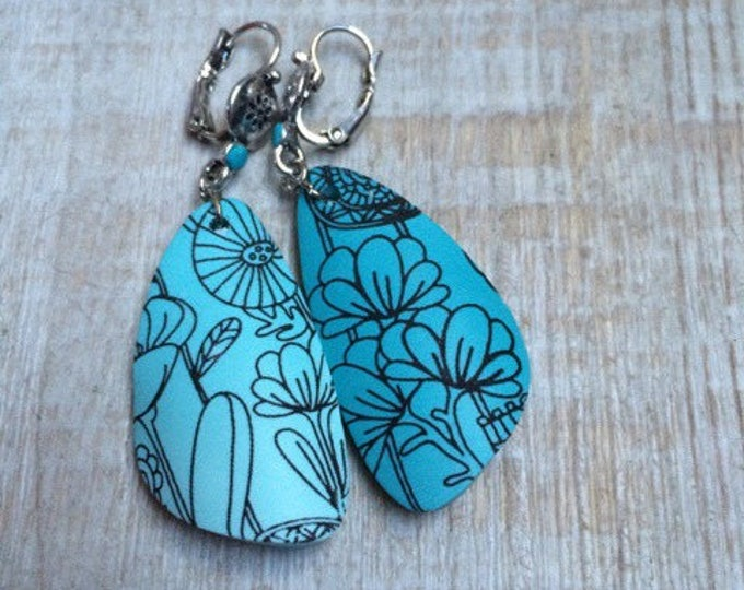 Pair of earrings in polymer clay - flowers - new collection