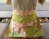 Craft Apron - Craft Show - Festival - Fair - Bazaar (Light Pink and Green)