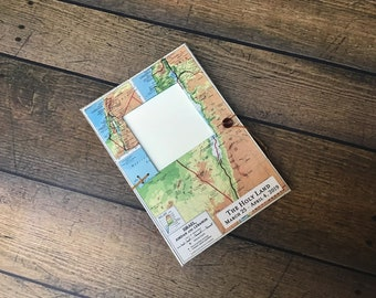 Personalized Israel Travel Journal with Pockets, Envelopes and Map, Holy Land Pilgrimage, Jerusalem Jordan Lebanon