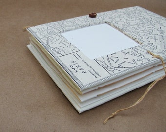 Personalized Paris Travel Journal with Pockets and Envelopes, France Diary