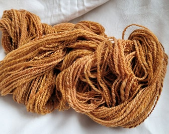 Handspun yarn, GOLDENROD, Merino wool, dk weight, soft as baby's skin