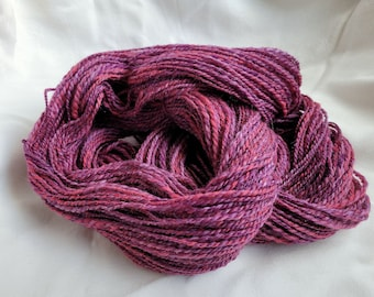 Handspun yarn, MOTHER'S DAY, wool and nylon with sparkles